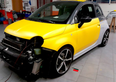 Preparazione wrapping 595 Abarth CC