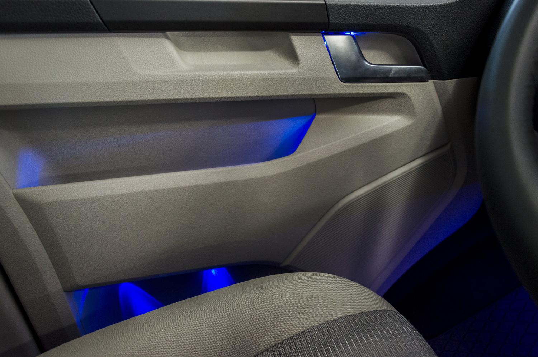 installazione luci ambiente a led su volkswagen multivan T6